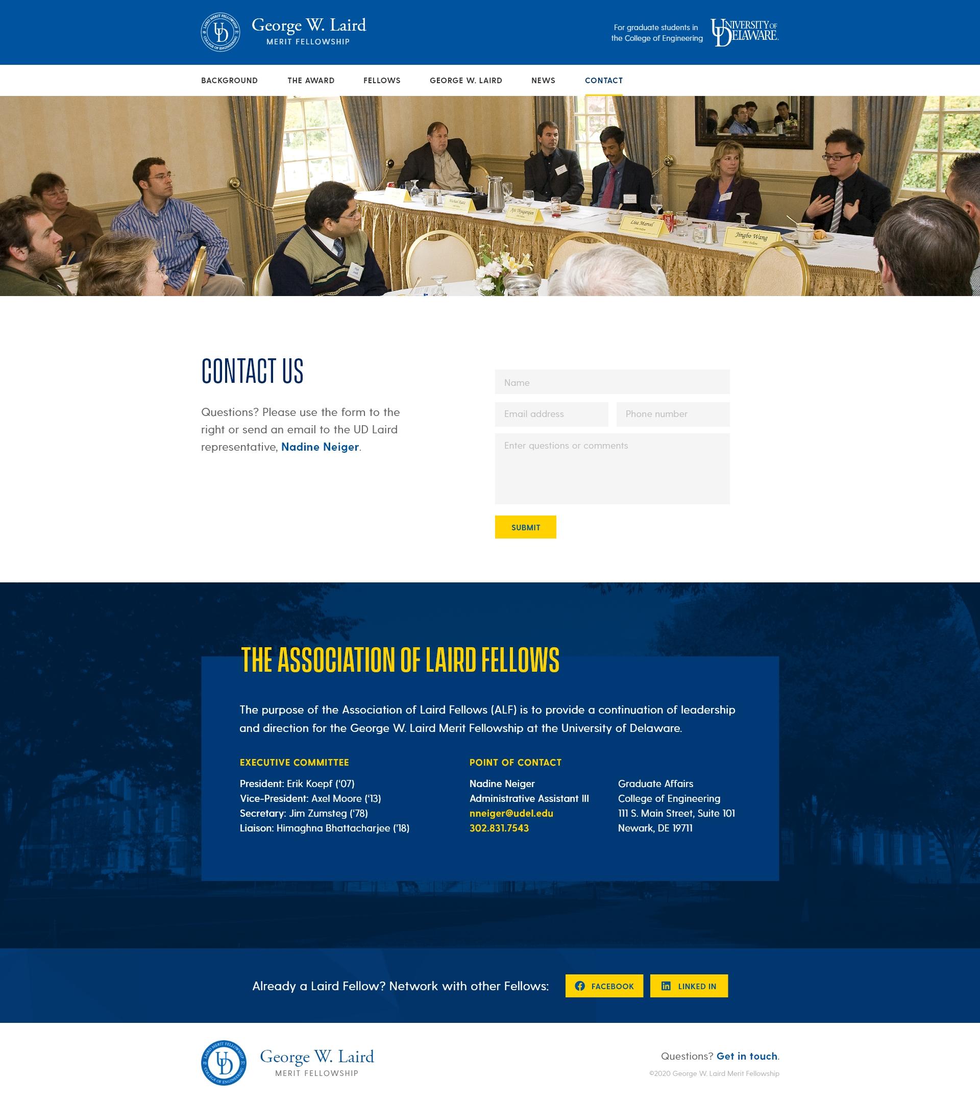 University Fellowship Website