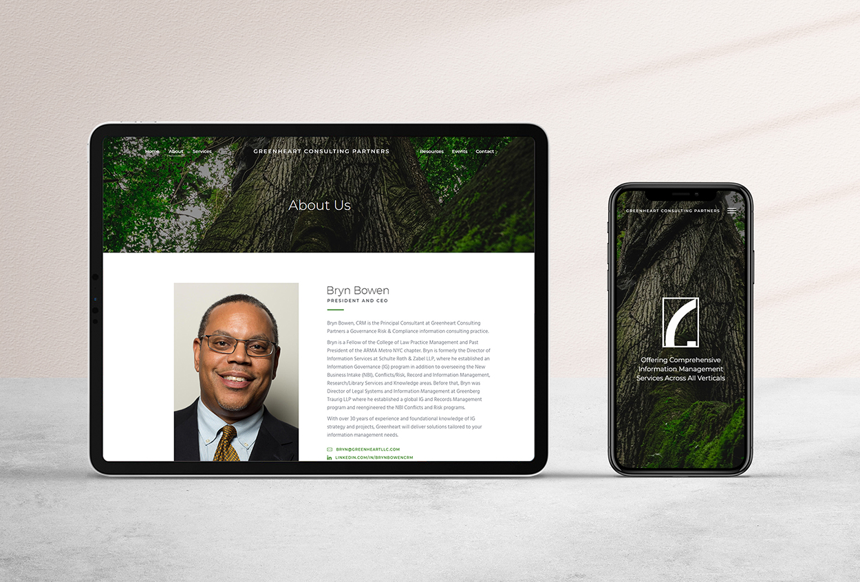 Consulting Website mockup