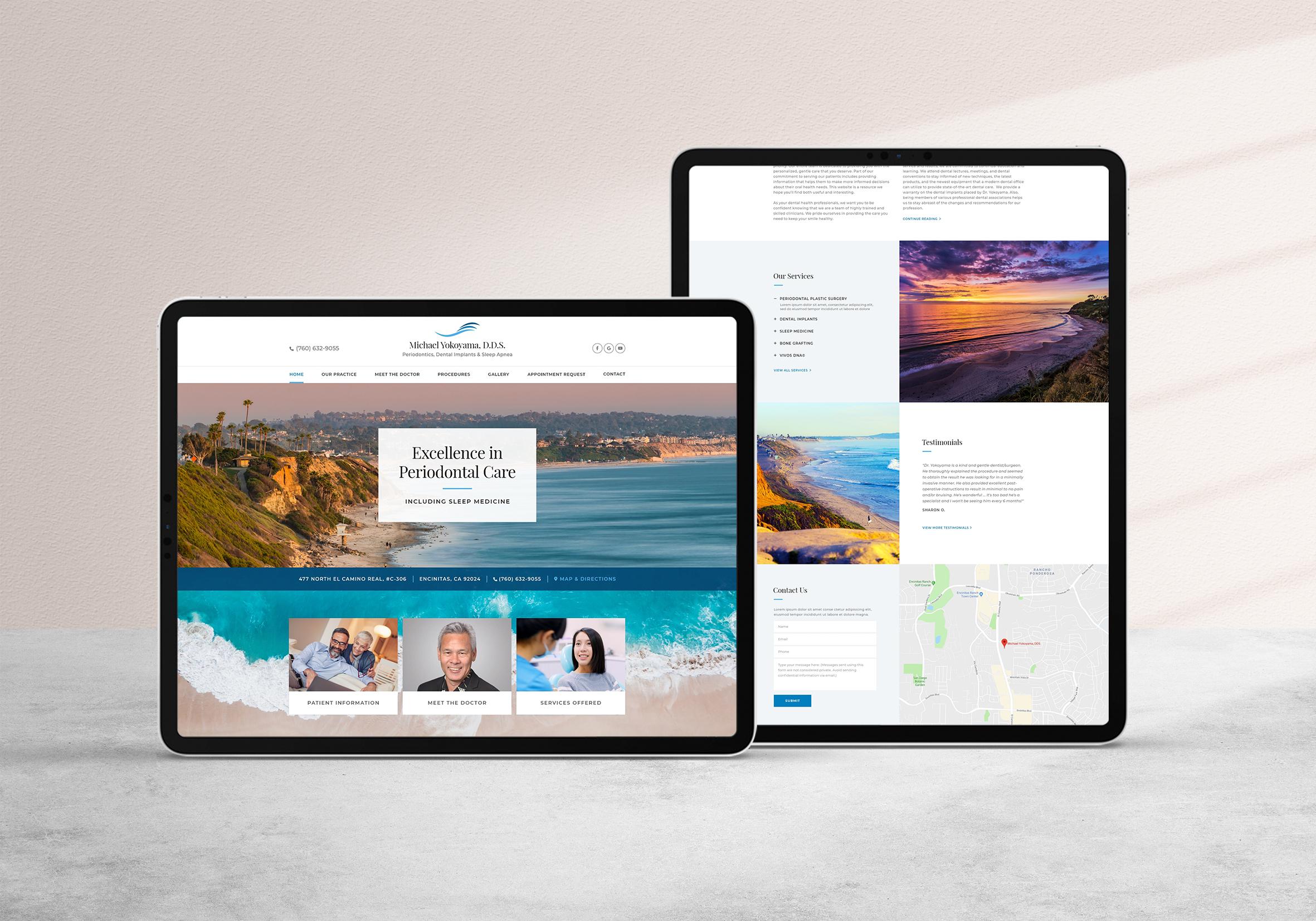 California Coast Dentist Website