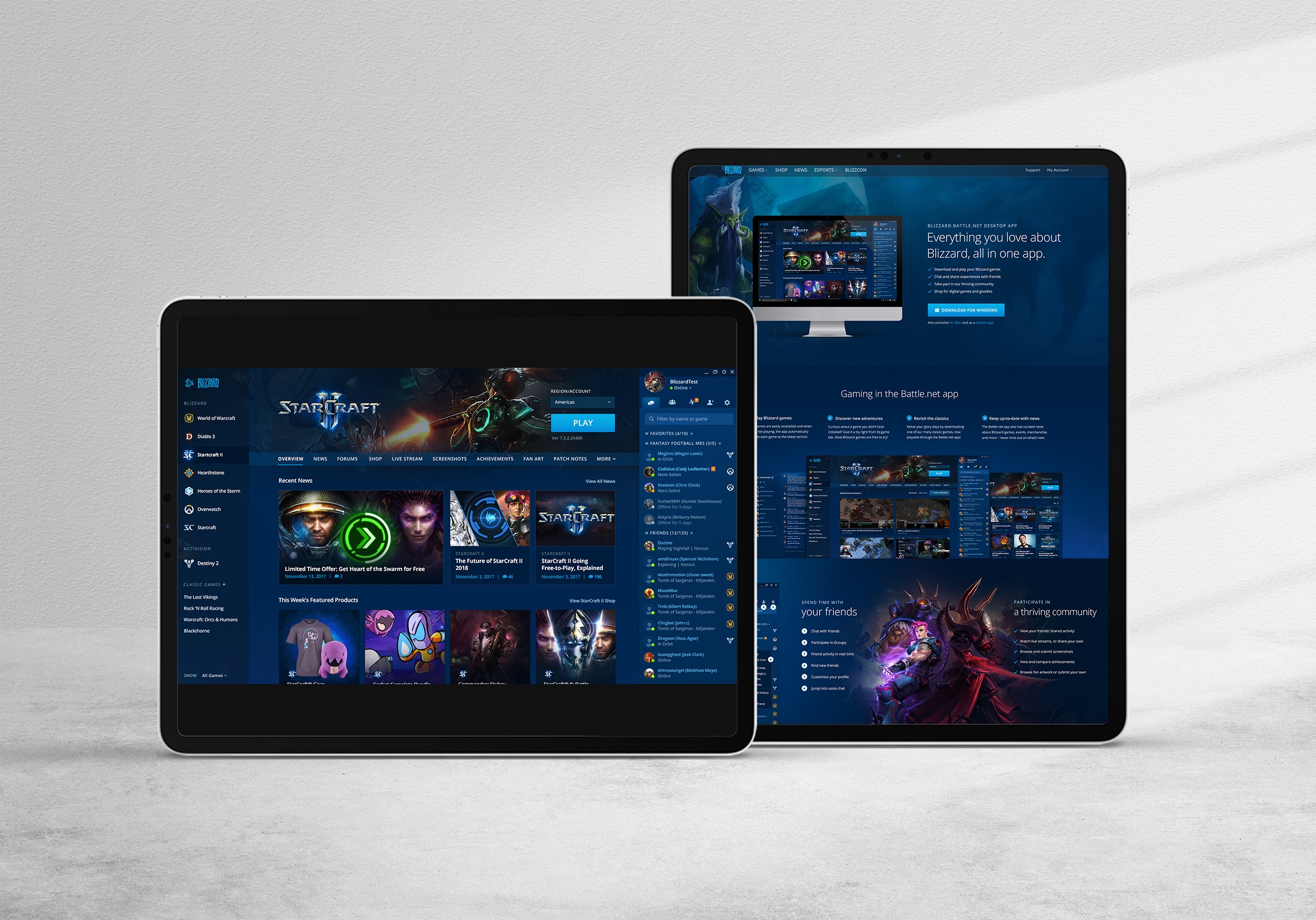 Blizzard Battle.net Redesign