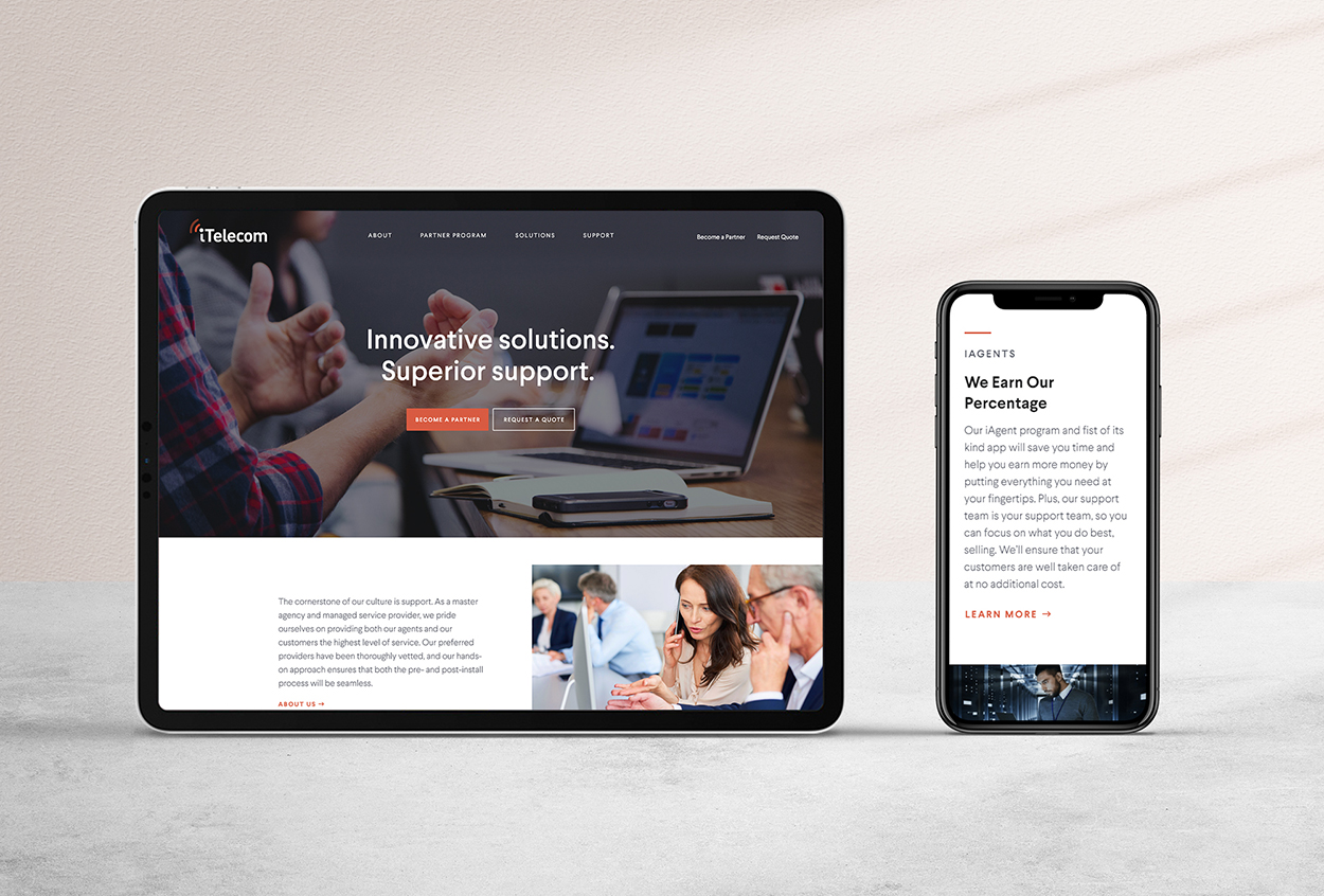 Telecom Website Redesign