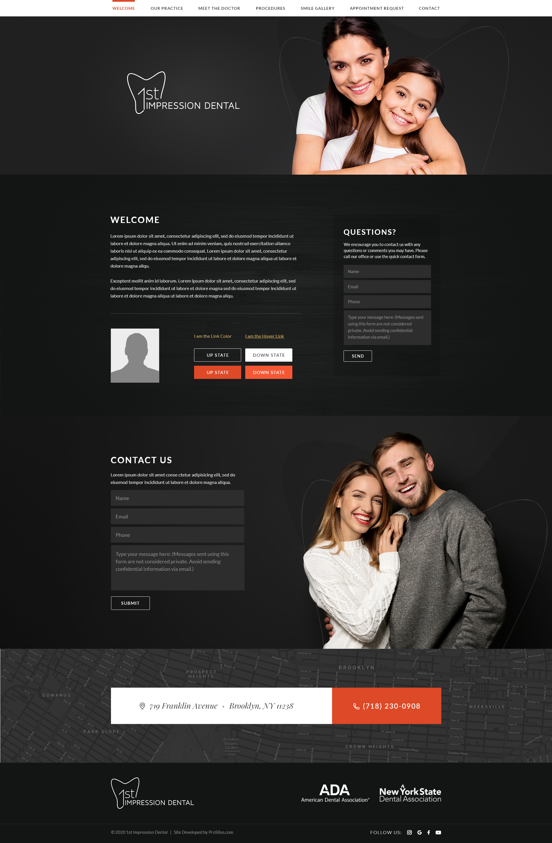 Dental Website mockup