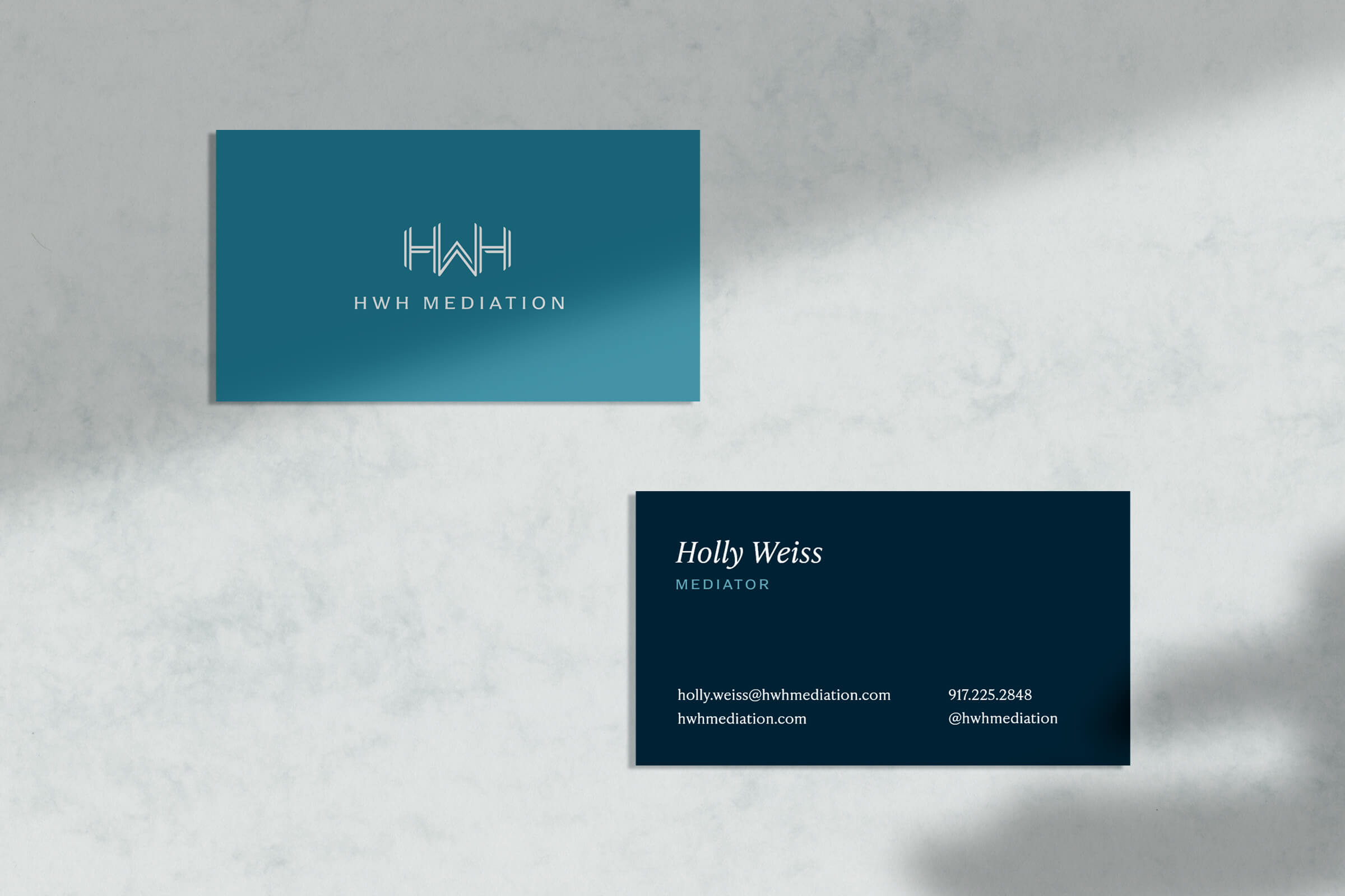 Mediator Business Card Mockups
