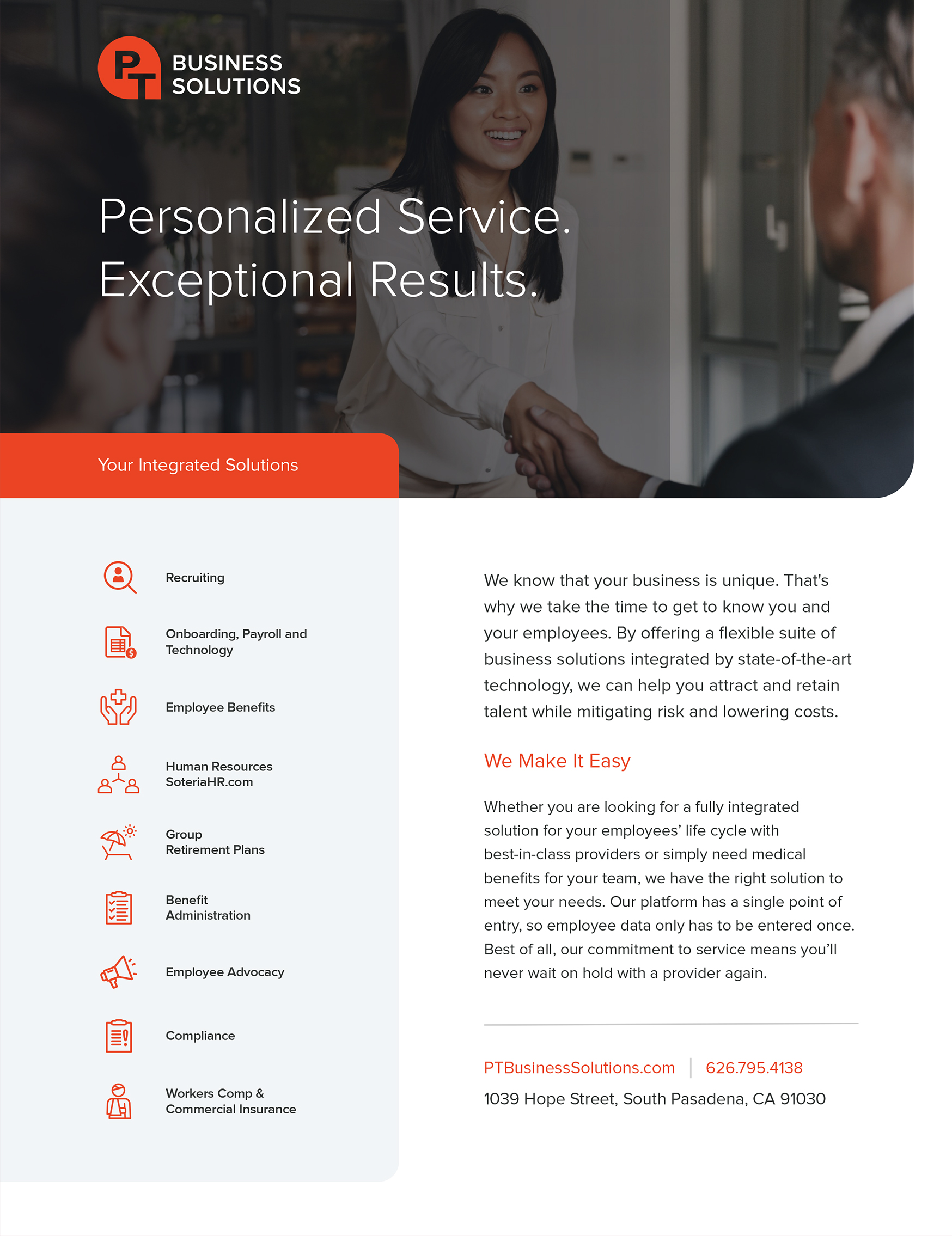 Professional Business Solutions Flyer