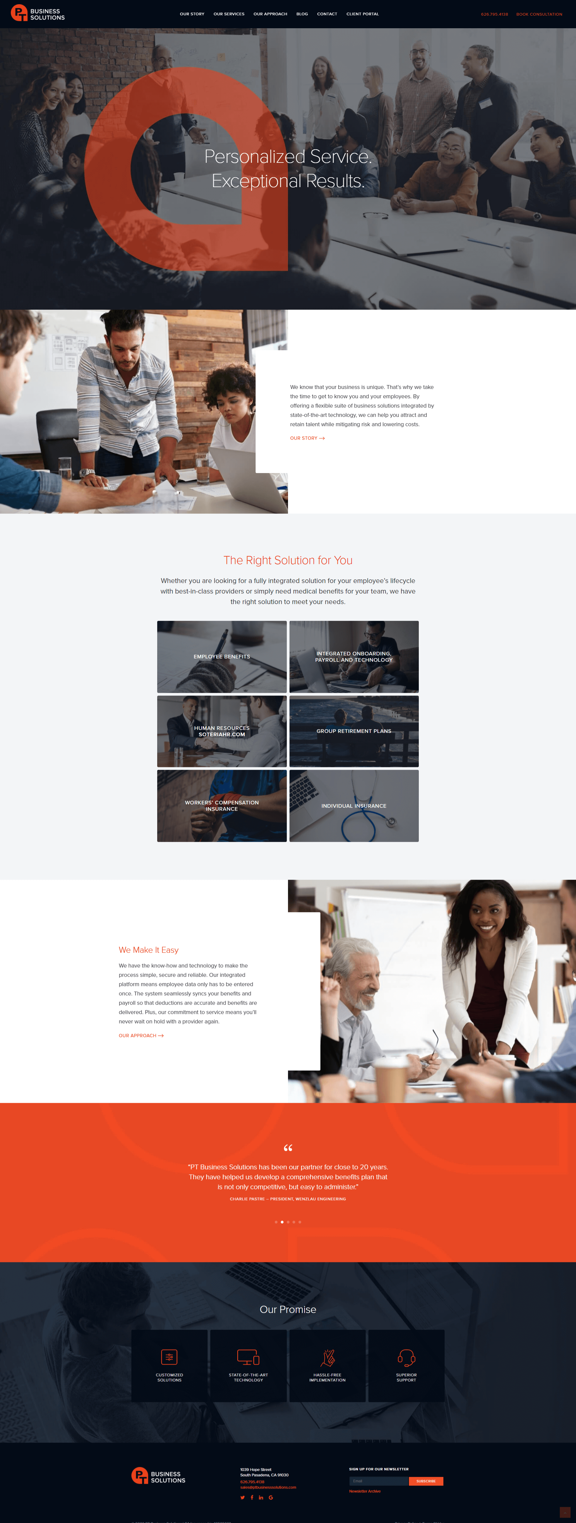 Professional Services Company Website